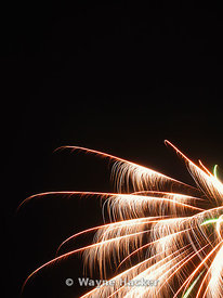 fireworks exploding in the night sky