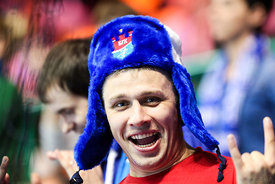 Fan during the Final Tournament - Final Four - SEHA - Gazprom league, Bronze Medal Match Meshkov Brest - PPD Zagreb, Belarus, 09.04.2017, Mandatory Credit ©SEHA/ Jozo Čabraja..