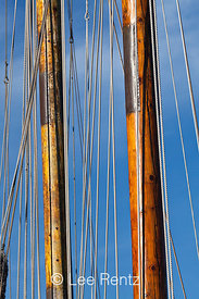 Wooden Masts at the Historic Ships Wharf in Seattle