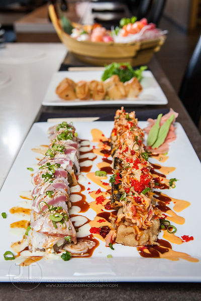 Tuna Tataki and Las Vegas Roll, Formosa (Justin Torner/Freelance for the Press-Citizen)