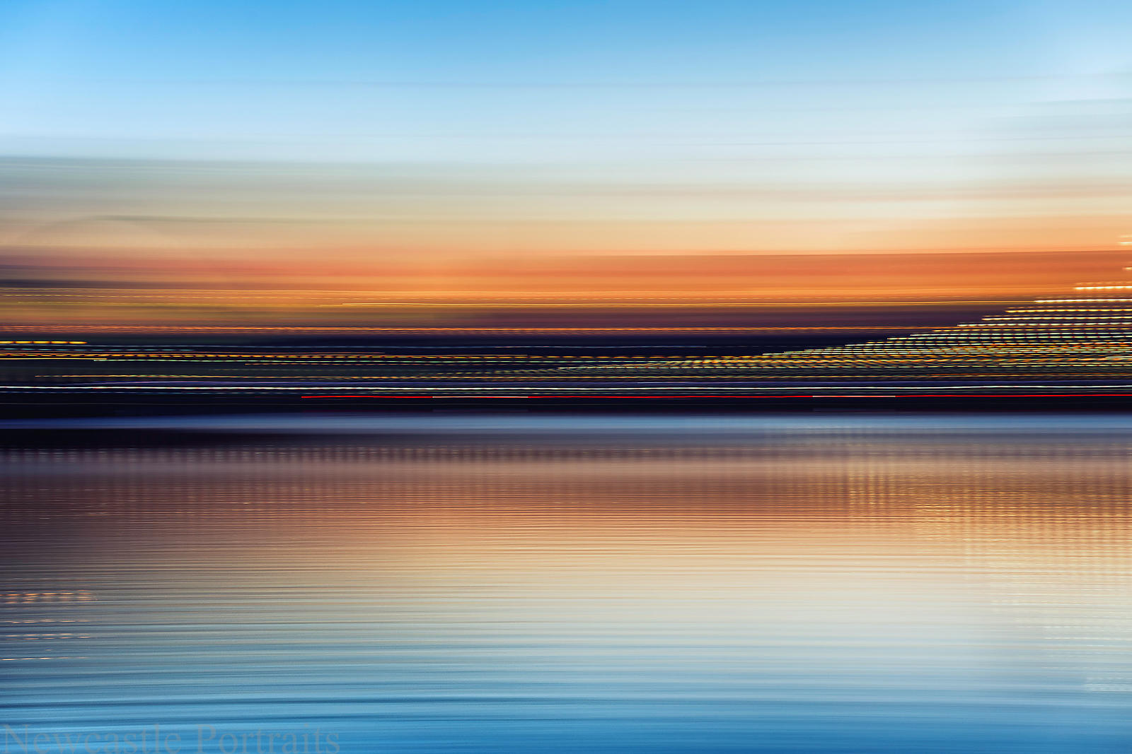 River Tyne Sunset Panning