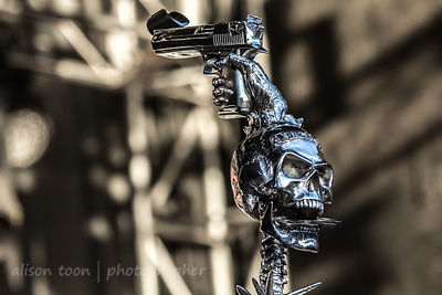 Ivan Moody's mic stand, Five Finger Death Punch, Aftershock 2014