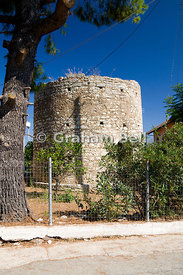Former Windmill, Katomeri Village, Meganisi Island, Lefkas, Ionian Islands, Greece.