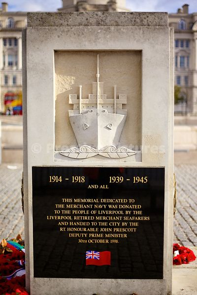 The Liverpool Retired Merchant Seafarers memorial at Pier Head Liverpool