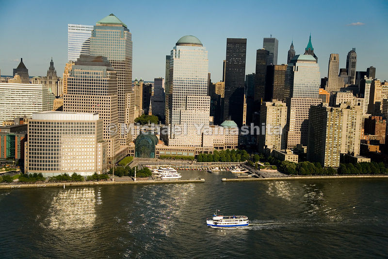 The World Financial Center is part of the revival of Lower Manhattan since the tragedy of 9/11/01.  Manhattan, New York City.