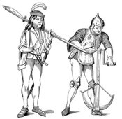 Medieval squire and archer