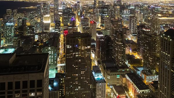 Bird's Eye: High Above Lights, Streets, & the High-rises of Chicago