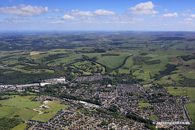 aerial photograph Meltham,  Metropolitan Borough of Kirklees, West Yorkshire, England UK