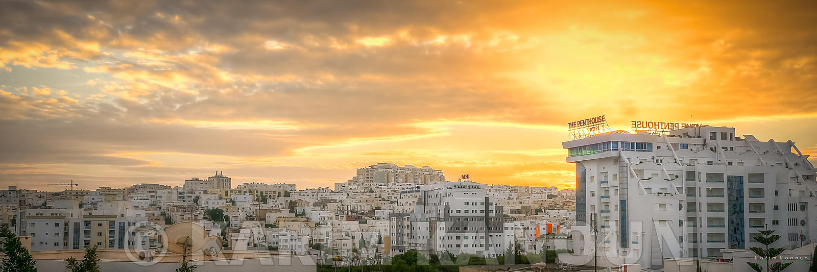 Panorama - Ennasr city view at sunset time