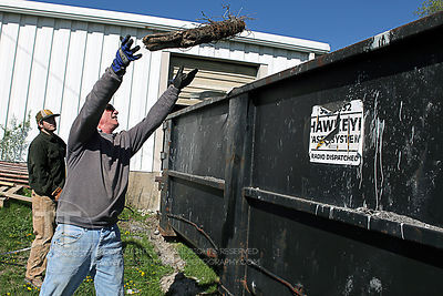 Iowa Valley Habitat for Humanity Site Clean-up Day, April 6th, 2012