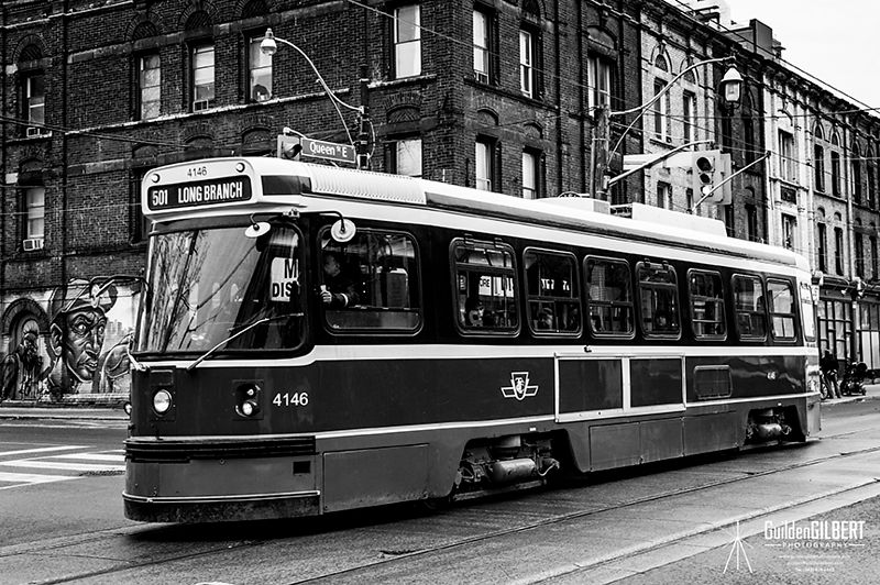 Street Car in B&W