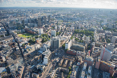 Aerial view of Old St, Old St roundabout, London. St Luke's (London) London