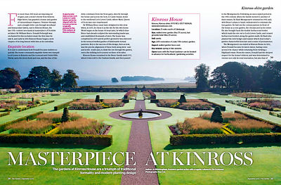 Kinross House, Perthshire; Publication: The Garden (RHS) photos