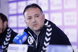 Slavko Goluza during the Final Tournament - Final Four - SEHA - Gazprom league, Press conference in Brest, Belarus, 06.04.2017, Mandatory Credit ©SEHA/ Uros Hočevar