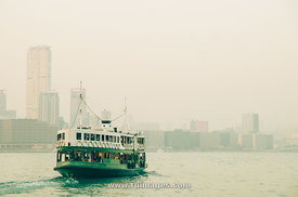 star ferry over victoria harbour of hong kong