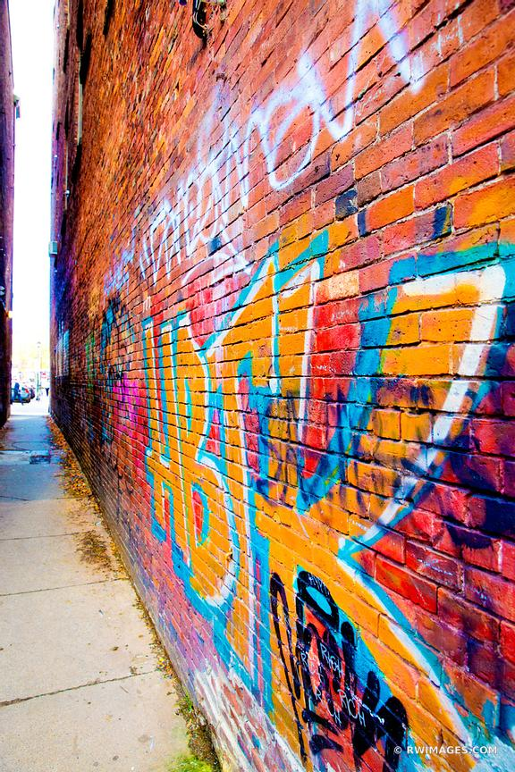 GRAFFITI DOWNTOWN ALLEY PORTLAND MAINE