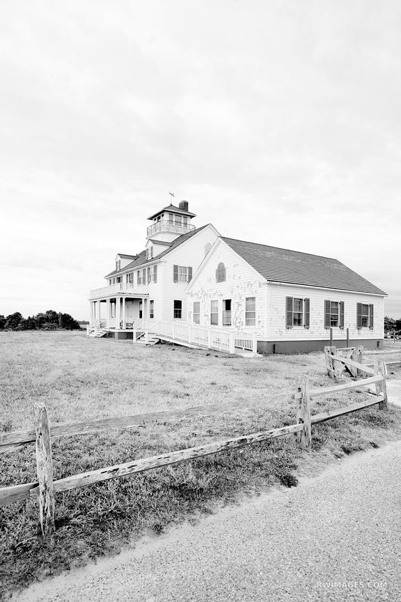 OLD COAST GUARD STATION EASTHAM CAPE COD MASSACHUSETTS BLACK AND WHITE