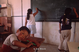 child at school in Peru