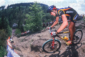 GENERAL VIEW WOLFRAM KURSCHAT HOUFFALIZE, BELGIUM. TISSOT MOUNTAIN BIKE WORLD CUP 2001