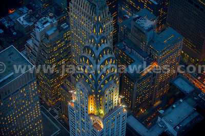 Chrysler building, aerial view