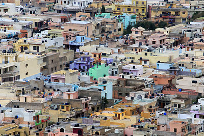 Ajmer city from Taragarh Fort, Pushkar, Rajasthan, India