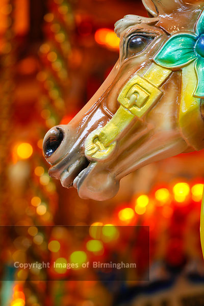 Horse on a fairground carousel