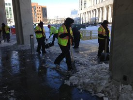 Waste Management Employees Lend a Shovel