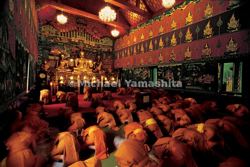 Here Zheng He, known in Thailand as San Bao, is worshipped as a god of prosperity. Monks at the temple Phanan Choeng dedicate their prayers to San Bao.  Ayutthaya, Thailand.