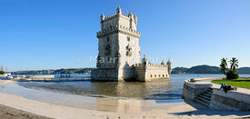 Belem Tower (Torre de Belem). Lisbon. A UNESCO World Heritage site