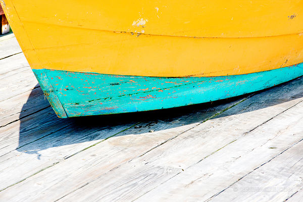 OLD COLORFUL FISHING BOAT GLOUCESTER CAPE ANN MASSACHUSETTS