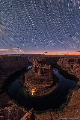 Horseshoe Bend Startrail - Arizona