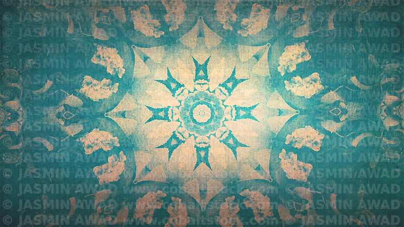 2floral_pattern_texture_grunge_background_blue