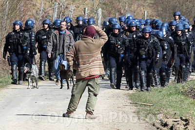 Evacuation of the ZAD Sivens photos, pictures, picture, agency