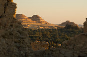 view over Siwa oasis from the Fortress of Shali, the Great Sand Sea, Western desert, Egypt