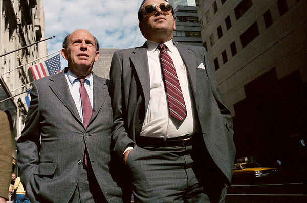 Two Businessmen with Red Ties, NYC, 1985