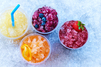 Iced Slushy Fruit Drink