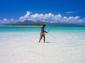 Bow and arrow fishing in the Banks Islands, Vanuatu