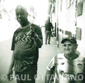 Street Portrait of Two Friends | Paul Ottaviano Photography
