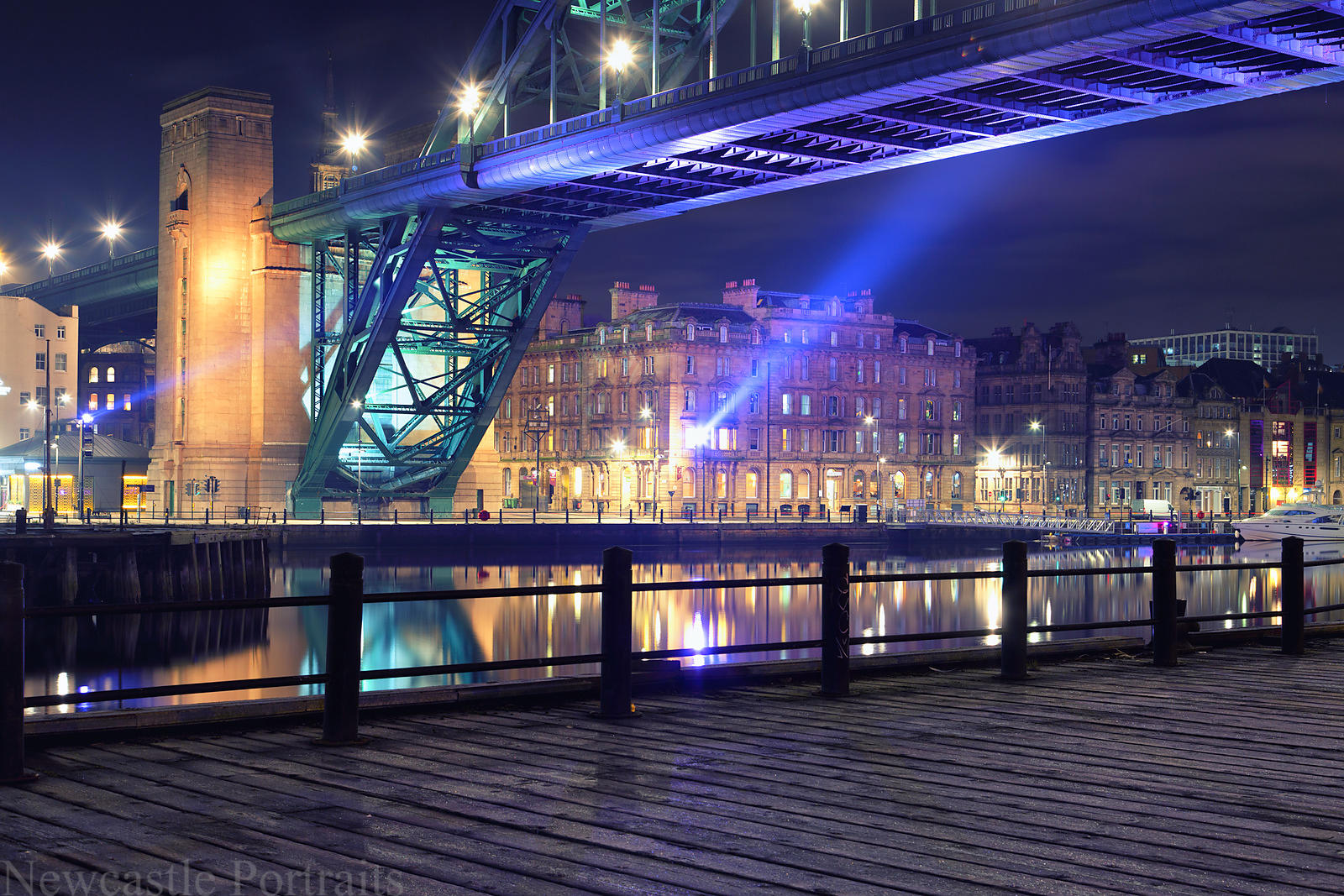 A frosty evening on the Quayside.