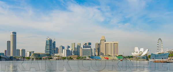 SINGAPORE - OCTOBER 09, 2016:  Office buildings and lesiure facilities overlooking the marina bay in Singapore.