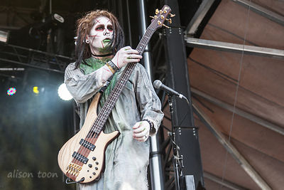 "Devin ""Ghost"" Sola, bass, Motionless In White"