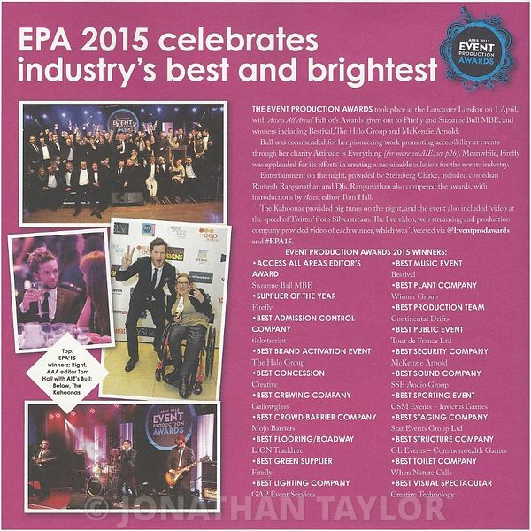Access All Areas magazine - May 2015 - Event Production Awards - page 6