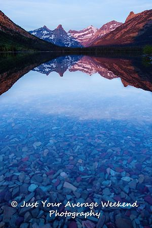 Cosley Lake Sunrise - Glacier National Park