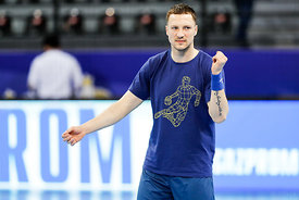 Maksim Baranau of team Meshkov Brest training during the Final Tournament - Final Four - SEHA - Gazprom league, Skopje, 12.04.2018, Mandatory Credit ©SEHA/ Stanko Gruden