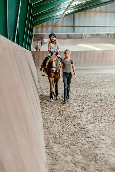 Girls horseriding in Denmark