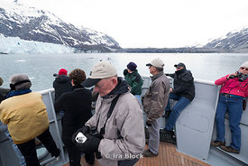 Passengers aboard National Geographic Sea Lion in Glacier Bay National Park, Southeast Alaska.