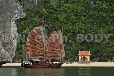 JONQUE, BAIE DE HA LONG, VIETNAM//Vietnam, Ha Long Bay, Junk Boat