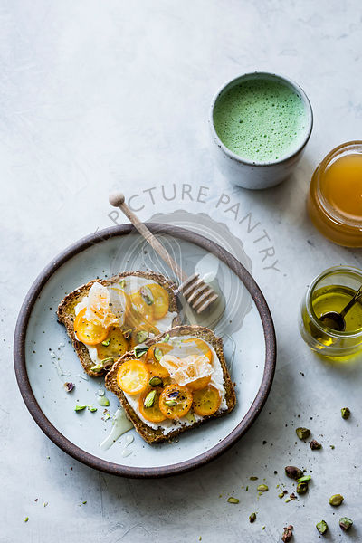Honey kumquat toast