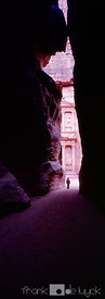 The Treasury as first seen when emerging from the narrow access in ancient Petra.