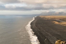 The Reynisfjara Black Sand Beach on Iceland's south coast.
